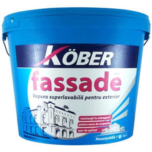 Pachet 2 bucati - Kober Zertifikat 15L, Vopsea super lavabila pentru exterior, Fassade, 2 x 24kg