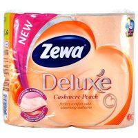 zewa deluxe pleasure comfort cashmere peach hartie igienica 3 straturi tub dizolvabil 4 role