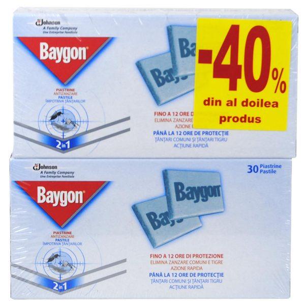 Baygon pastile impotriva tantarilor, 60 pastile, 30 pastile/cutie
