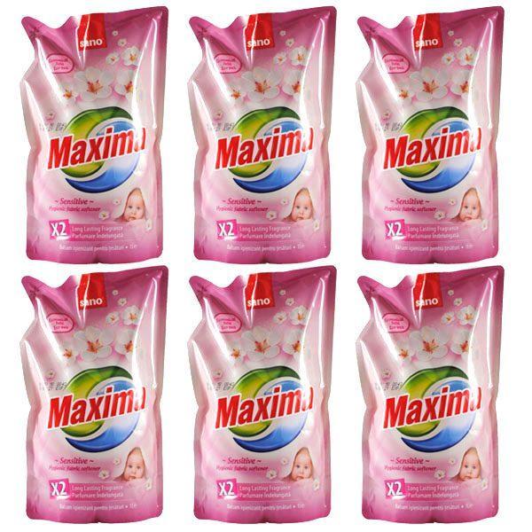 Balsam de rufe Sano Maxima Sensitive, Pachet 6x1L