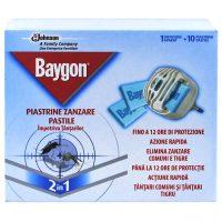 Pachet 10 bucati - Aparat cu pastile pentru tantari Baygon, 10 x 10 pastile + aparat  din categoria Aparate impotriva insectelor