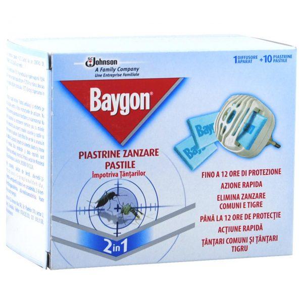 Baygon Aparat cu pastile pentru tantari, 10 Pastile + Aparat