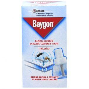 Pachet 7 bucati - Baygon rezerva lichida, 2 in 1, Impotriva tantarilor, 45 nopti, Pentru aparat electric, 27ml