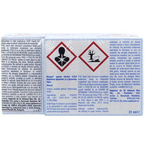 Pachet - 5 x Baygon Aparat + 10 Rezerva lichida anti-tantari, Impotriva tantarilor si tantarilor tigru