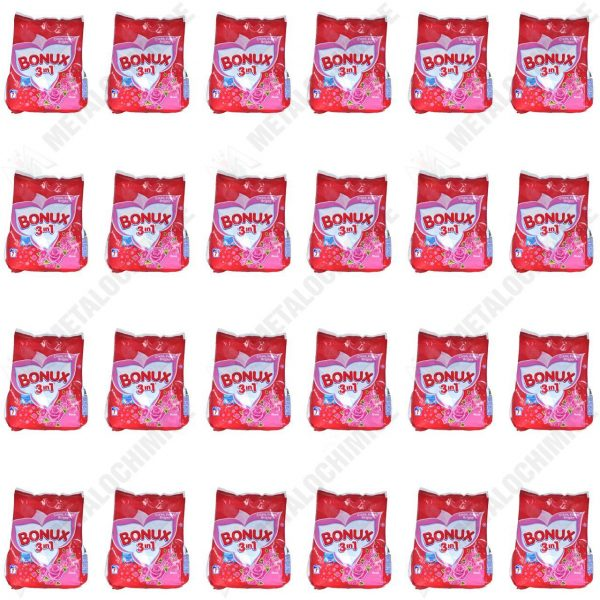 Pachet 24 bucati - Bonux manual, Detergent pentru rufe la punga, 24 x 400g