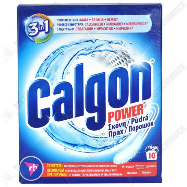 Pachet 3 bucati - Calgon Power anticalcar pudra pentru masina de spalat, 10 Spalari, 3 x 500 g