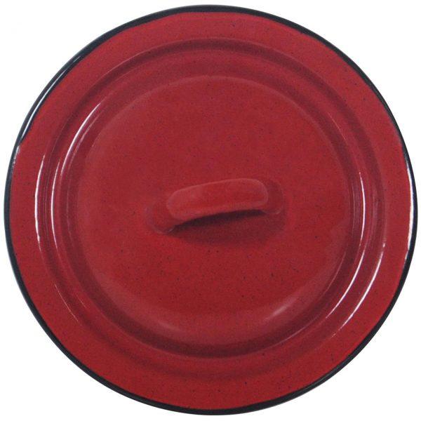 Capac oala 20 cm rosu