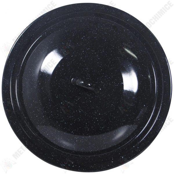 Capac emailat 36 cm negru