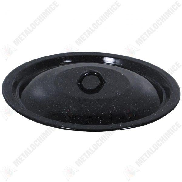Capac emailat 40 cm negru