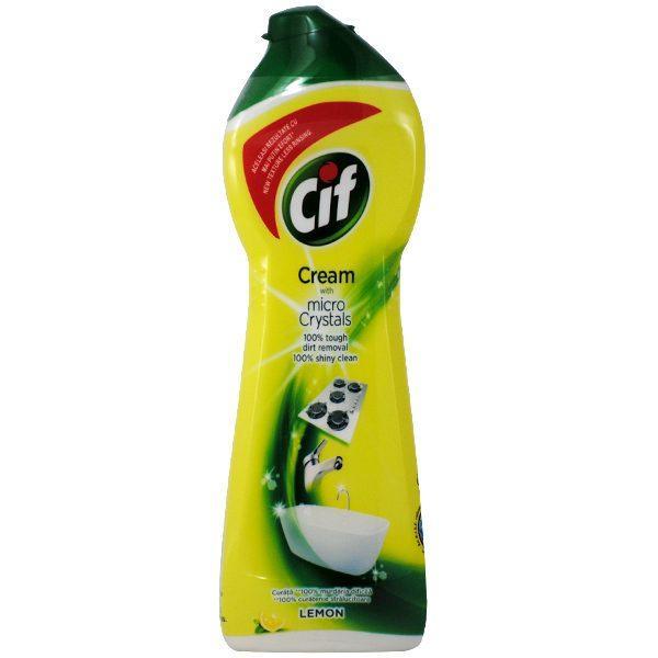 Pachet 10 bucati - Cif Lemon, Crema pentru curatat universala, 10 x 250ml