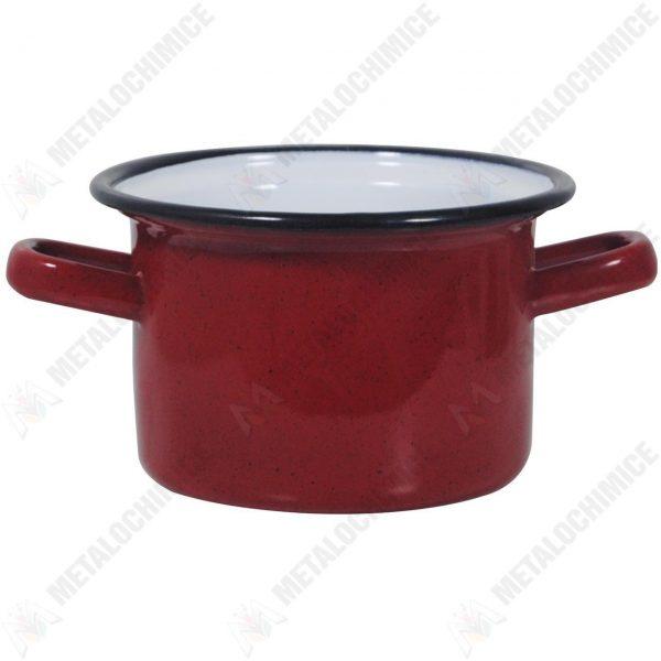 Cratita adanca cu toarte, 0.7 L, rosie