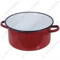 Cratita adanca 4L cu toarte, rosie  din categoria Cratite