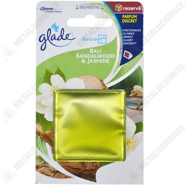 Pachet 5 bucati, Rezerva gel Glade Discreet Lemn de santal bali 8 gr
