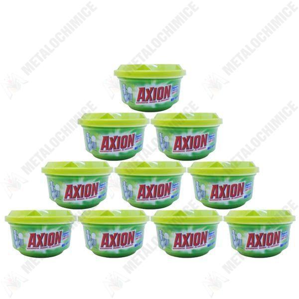 Pachet 10 bucati - Axion mar verde, Degresant pentru vase, Pasta pentru curatat, 10 x 225g