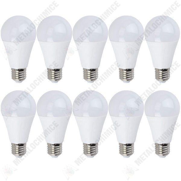 Pachet 10 bucati - Bec LED Lumina rece, NOVELite, 9W, Fasung E27