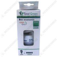 Pachet 10 bucati - Bec spirala, Total Green, 10000 Ore, lumina calda, Fasung E27, 20W  din categoria Electrice