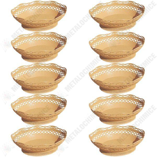 Pachet 10 bucati - Cos rustic, Pentru paine, 27cm