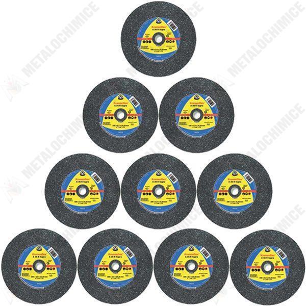 Pachet 10 bucati - Disc pentru taiat metal / inox, 230 x 2 x 22,23 mm