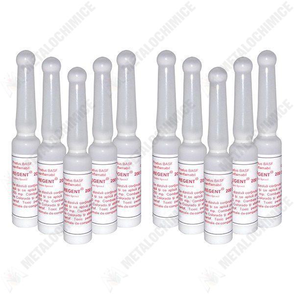 Pachet 10 bucati - Fiola solutie Regent, insecticid universal, otrava gandaci, plosnite, purici, muste, tantari, molii, omizi, gandacul de colorado, 10 x 2ml