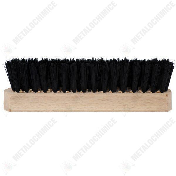 Pachet 10 bucati - Perie haine 13.7cm, Din lemn Natur, Pentru curatarea imbracamintei de scame si par