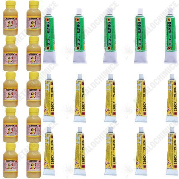 Pachet - 10xLipici pentru piele aderpren, Prenadez, 50 ml + 10xAdeziv Codez 50 ml + 5xPrenadez tub 50 ml, Prenandez, lipici piele, adeziv