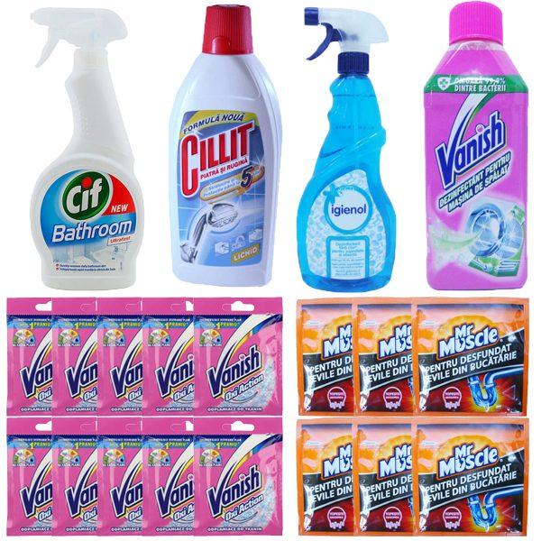 pachet-10xvanishoxi-actionpraf30g-vanish-dezinfectant-pentru-masina-spalat-250ml-igienol-dezinfectant-fara-clor-750ml-6xgranule-desfundat-tevilemr-muscle50g-cillit-lich