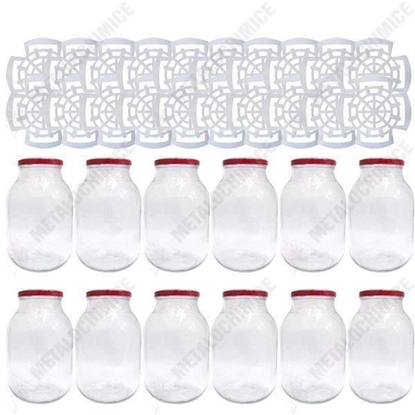 pachet 12 bucati borcan 4 litri cu capac borcane din sticla cu capace prin infiletare 20 x presa muraturi 1 75l 2l 3l 5l