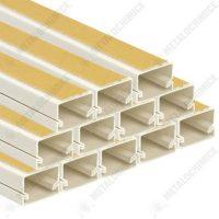 pachet 12 bucati canal cablu pvc 40x40mm bara 2m pat cablu cu banda adeziva