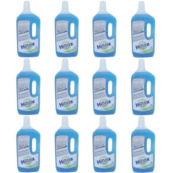 Pachet 12 bucati - Detergent hillox, Pentru pardoseli, 1 L