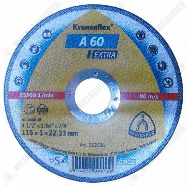 Pachet 12 bucati - Disc Kronen Flex, Taiat metal / Inox, 115 x 1 x 22.23 mm