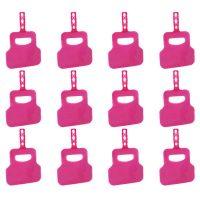 pachet 12 bucati evantai pentru gratar roz
