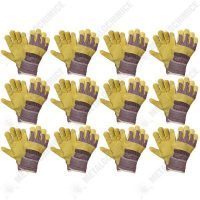 pachet 12 bucati manusi lacatus pentru protectie crem galben