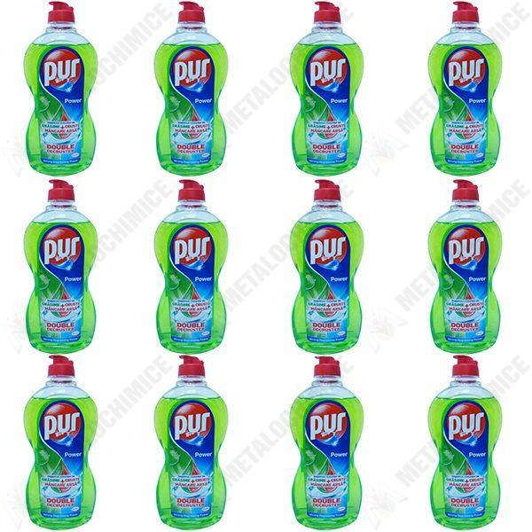 Pachet 12 bucati - Pur, Detergent pentru vase, Mar Verde, 450 ml