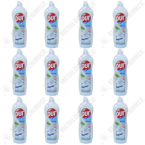 Pachet 12 bucati - Pur, Detergent pentru vase, Aloe Vera, 900 ml
