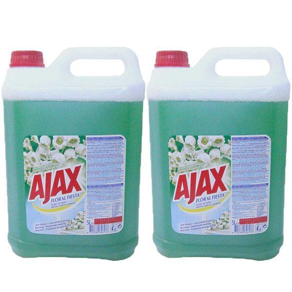 Pachet 2 bucati - Ajax 5L Flowers of Spring, Floral fiesta, Rezerva solutie pentru geamuri, 2 x 5000ml