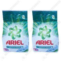 pachet 2 bucati ariel mountain spring detergent automat pudra cu parfum proaspat 2 x 2kg