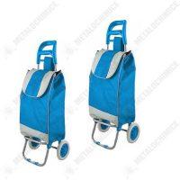Pachet 2 bucati - Carut pentru piata, 2 roti, bleu, suporta 20kg  din categoria Carucioare pentru piata
