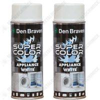 Pachet 2 bucati - Den Braven, Vopsea spray smalt pentru frigider, aragaz, masina de spalat, 2 x 400 ml  din categoria Spray-uri