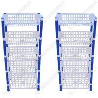 pachet 2 bucati etajera cu 5 etaje raft legume fructe albastra