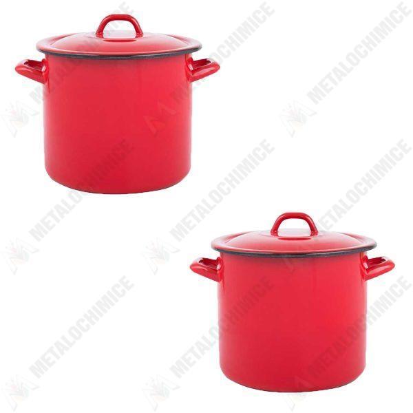 pachet-2-bucati-oala-emailata-cu-capac-2-5-litri-rosie