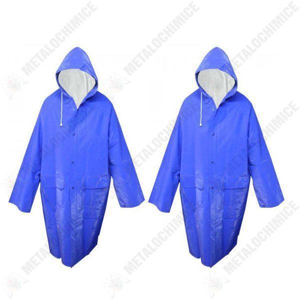 Pachet 2 bucati, Pelerina de ploaie impermeabila XL Albastru