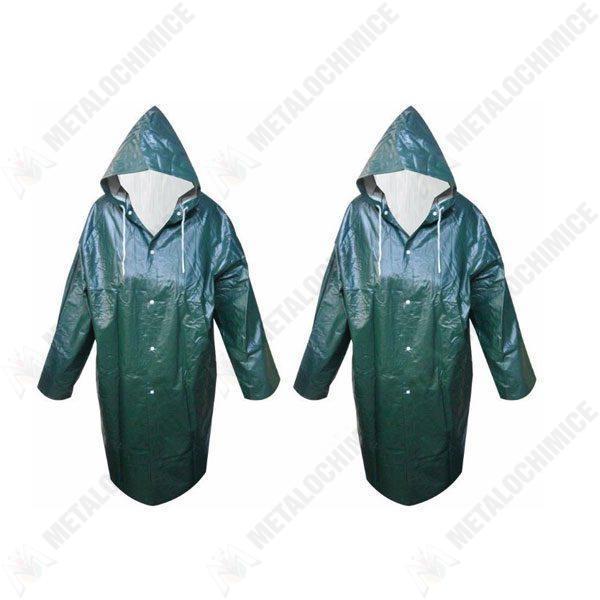 Pachet 2 bucati, Pelerina de ploaie impermeabila XL Verde