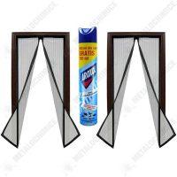 pachet 2 bucati plasa insecte alba cu inchidere magnetica la mijloc 190cm x 100cm aroxol spray insecticid universal 500ml