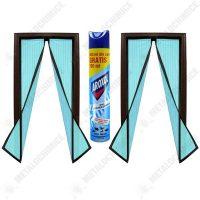 pachet 2 bucati plasa insecte cu inchidere magnetica prindere cu banda dublu adeziva si pioneze albastra 190cm x 100cm aroxol spray insecticid universal 500ml