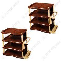 Pachet 2 bucati, Raft pantofi lux 4 etaje, Crem-Maro, Pantofar  din categoria Diverse mobilier