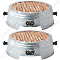 pachet 2 bucati resou electric plita ceramic nichelina cablu 1m 1500w