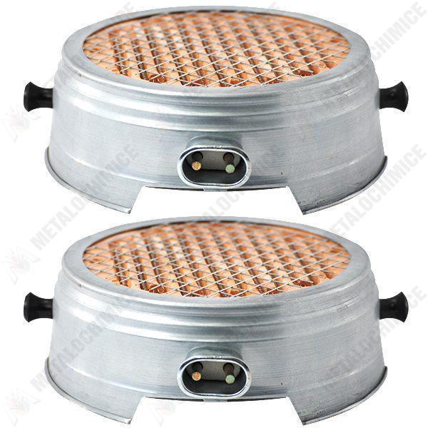 Pachet 2 bucati - Resou electric, Plita, Ceramic, Nichelina, Cablu 1M, 1000W