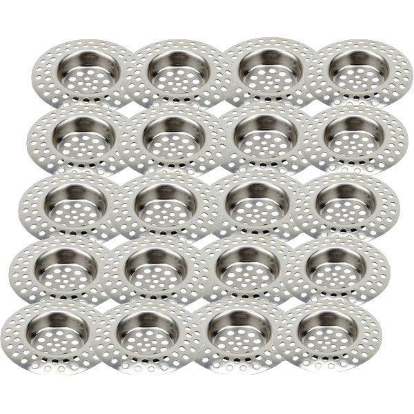 Pachet 20 bucati - Sita metalica pentru chiuveta, Inox