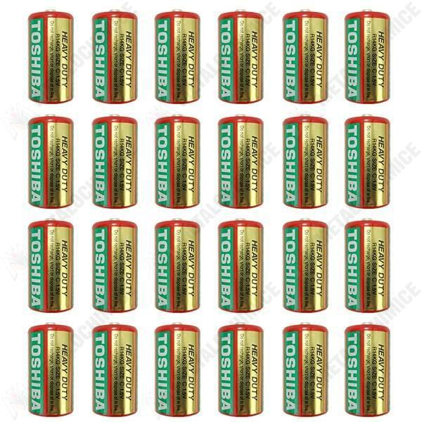 Pachet 24 bucati - Baterie Toshiba Heavy Duty, Size C, R14, 1.5V