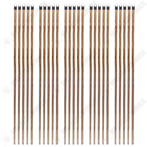 Pachet 25 bucati - Coada din lemn lacuit, Cu filet pentru Matura, Mop, 120cm